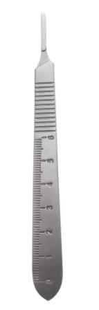 Scalpel Handles Flat W/Scale # 12.5cm  ( 10-130-03E )-Scalpel Handles