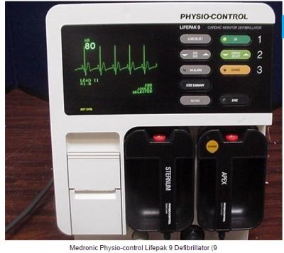 Medronic Physio-control Lifepak 9 Defibrillator
