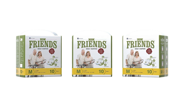 Friends Easy Adult Medium Size Diaper (M-10 Pieces)
