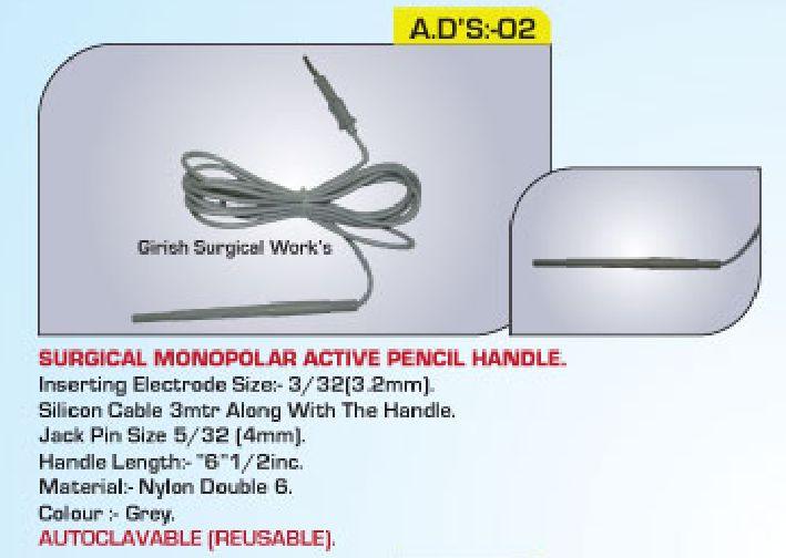 Surgical Monopolar active pencil chuck handle