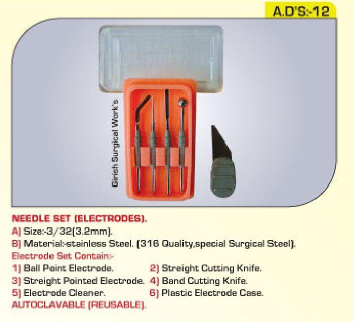 Needle Set - Electrodes : 3/32
