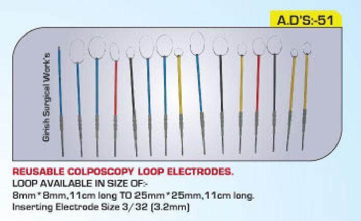 Reusable colposcopy loop electrodes