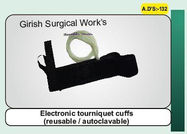 Electronic tourniquet cuffs(reusable / autoclavable)
