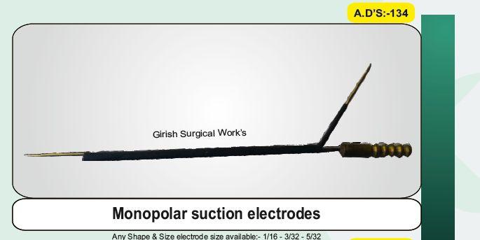 Monopolar suction electrodes