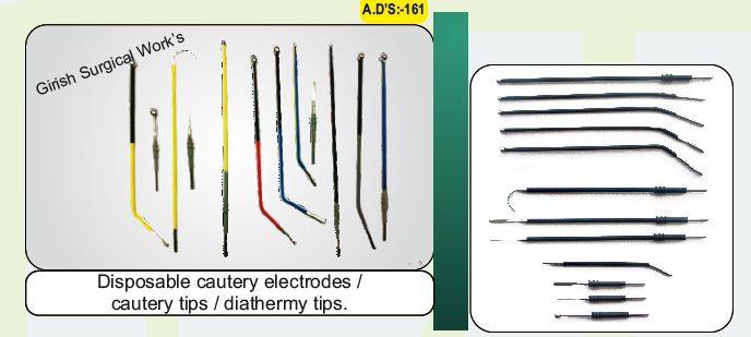 Disposable cautery electrodes / cautery tips / diathermy tips.