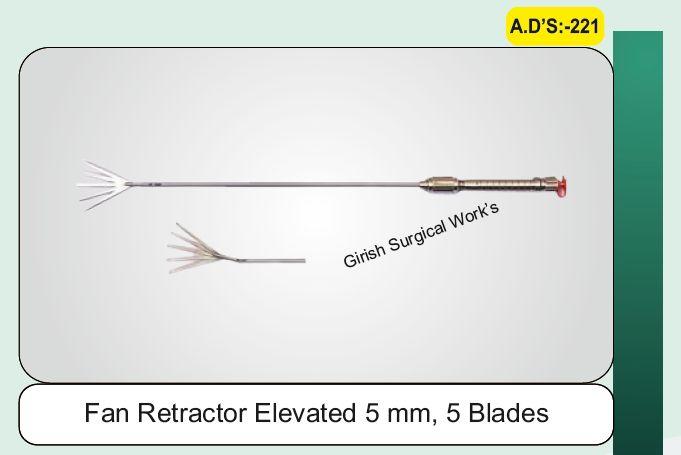 Fan Retractor Elevated 5 mm, 5 Blades