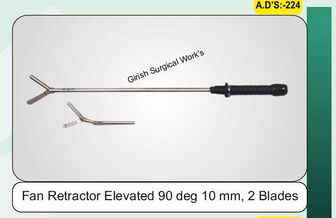 Fan Retractor Elevated 90 deg 10 mm, 2 Blades