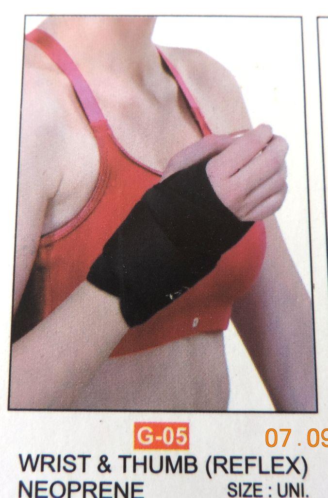 Wrist and thumb (reflex) neoprene