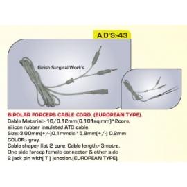 Bipolar Forceps Cable Cord - European Type