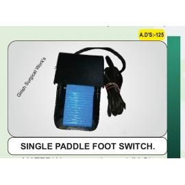 SINGLE PADDLE FOOT SWITCH.