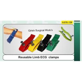 Reusable Limb ECG clamps