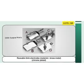 Reusable limb electrodes (material:- brass metal)