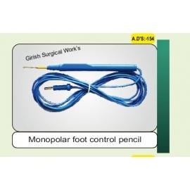 Monopolar foot control pencil