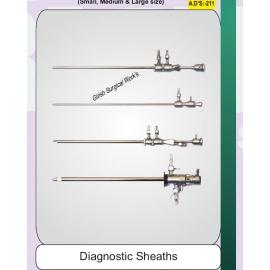 Diagnostic sheaths double channel
