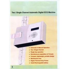 1 + 1 channel ecg machine