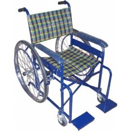Blue Colour Powder Coated wheelchair