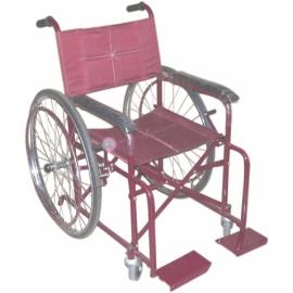 Maroon Colour Powder Coated Wheelchair